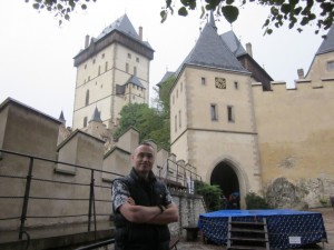 Karlstejn castle and a tourist!