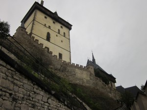 Many of the approaches to Karlštejn are extremely steep