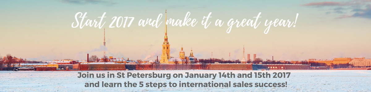 Join us in St Petersburg and learn the 5 steps to international sales success!