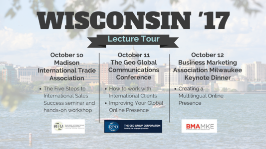 Wisconsin Lecture Tour October 2017